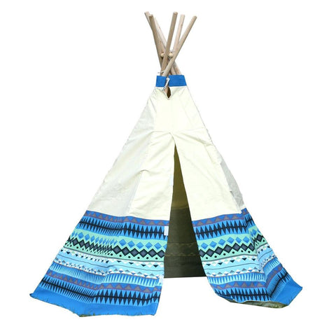 Kids Aztec Print Blue Wigwam/Teepee - Kids Car Sales