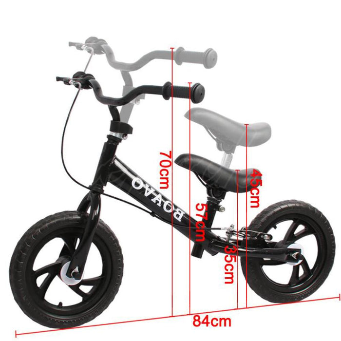 "Unbranded Kids Balance Bike 12"" with Brakes"