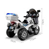 Image of Kids Electric 12v Police Patrol 3-Wheel Ride-On Motorbike - Kids Car Sales