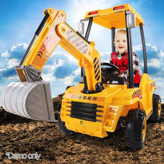 Kids Electric 12v Ride-On Excavator Digger with Functional Levers