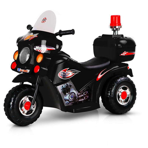 Unbranded Kids Electric 6v Black 3-Wheel Ride-On Motorbike RCAR-MBIKE99-BK