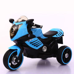 Kids Electric 6v Blue 3-Wheel Ride-On Motorbike with LED Wheels - Kids Car Sales