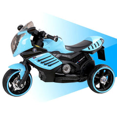 Kids Electric 6v Blue 3-Wheel Ride-On Motorbike with LED Wheels