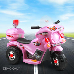 Kids Electric 6v Pink 3-Wheel Ride-On Motorbike