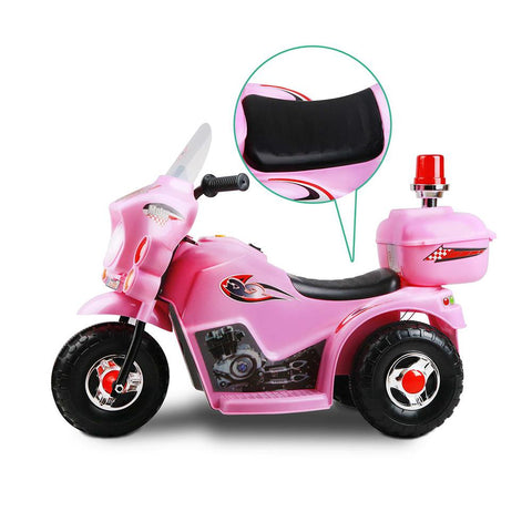 Kids Electric 6v Pink 3-Wheel Ride-On Motorbike - Kids Car Sales