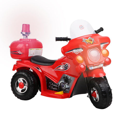 Kids Electric 6v Red 3-Wheel Ride-On Motorbike
