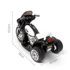 Image of Kids Electric 6v White 3-Wheel Chopper-Style Police Ride-On Motorbike