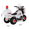 Image of Kids Electric 6v White 3-Wheel Ride-On Motorbike