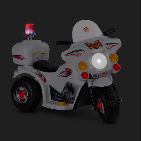 Kids Electric 6v White 3-Wheel Ride-On Motorbike - Kids Car Sales