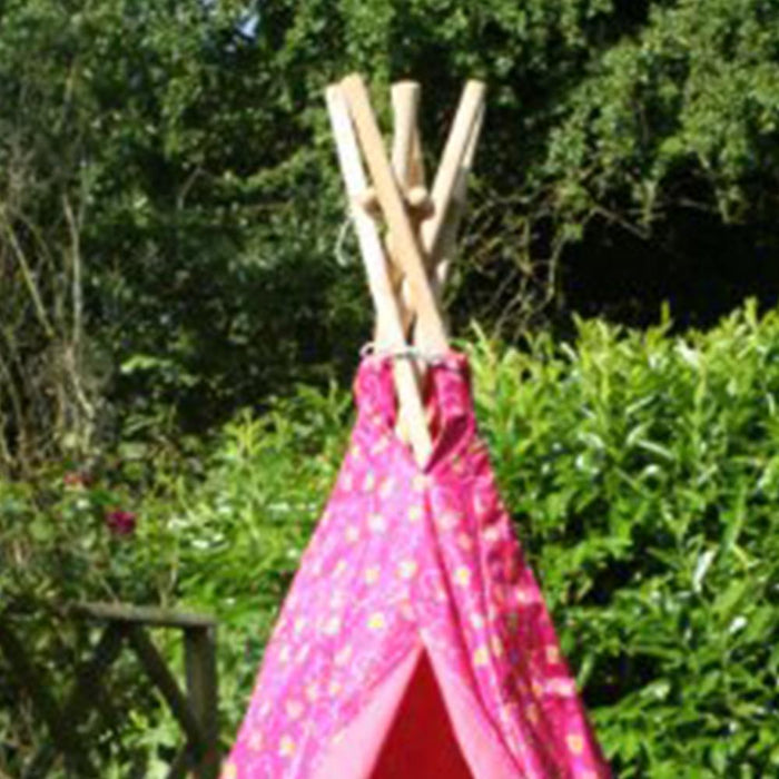 Kids Loveheart Print Pink Wigwam/Teepee - Kids Car Sales