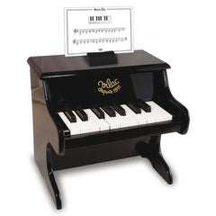 Kids Mini Black Piano With Scores by Vilac - Kids Car Sales