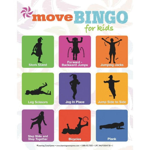 Kids Move Bingo Game - Kids Car Sales