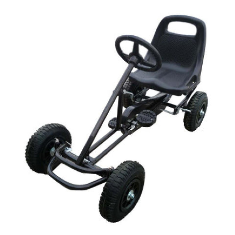 Kids Ride On Bariloche Outdoor Pedal Go Kart in Black (Ex Demo) - Kids Car Sales