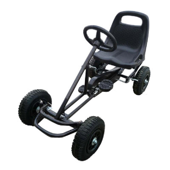 Unbranded Black Kids Ride On Bariloche Outdoor Pedal Go Kart in Various Colours V63-700383