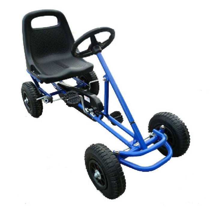 Unbranded Blue Kids Ride On Bariloche Outdoor Pedal Go Kart in Various Colours V63-700393