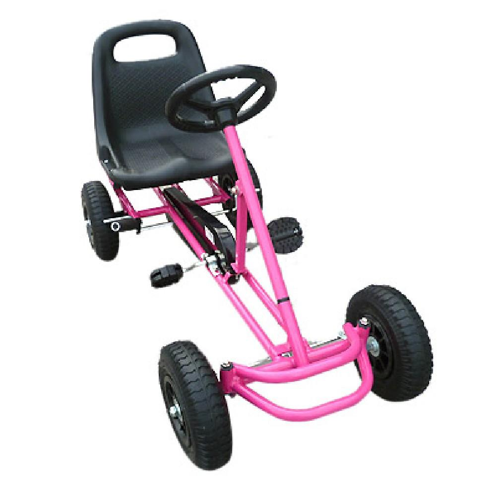 Unbranded Pink Kids Ride On Bariloche Outdoor Pedal Go Kart in Various Colours V63-700403