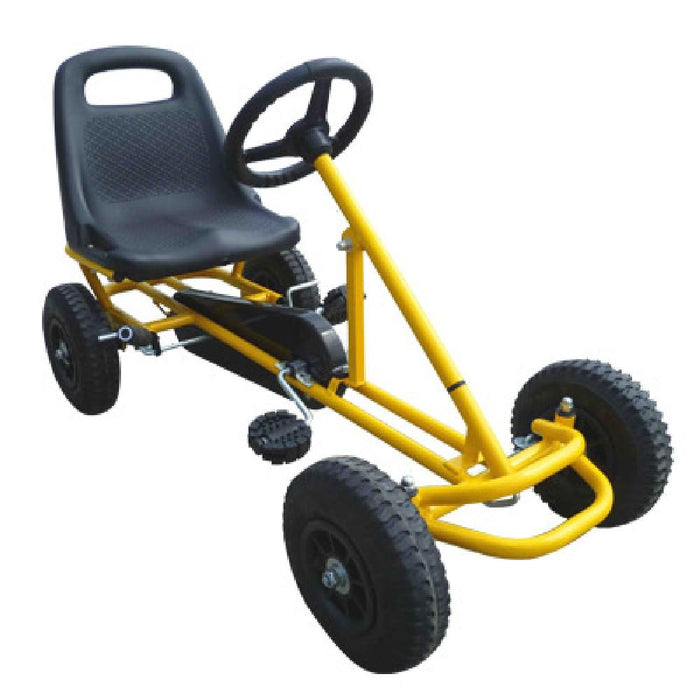 Unbranded Yellow Kids Ride On Bariloche Outdoor Pedal Go Kart in Various Colours V63-704585
