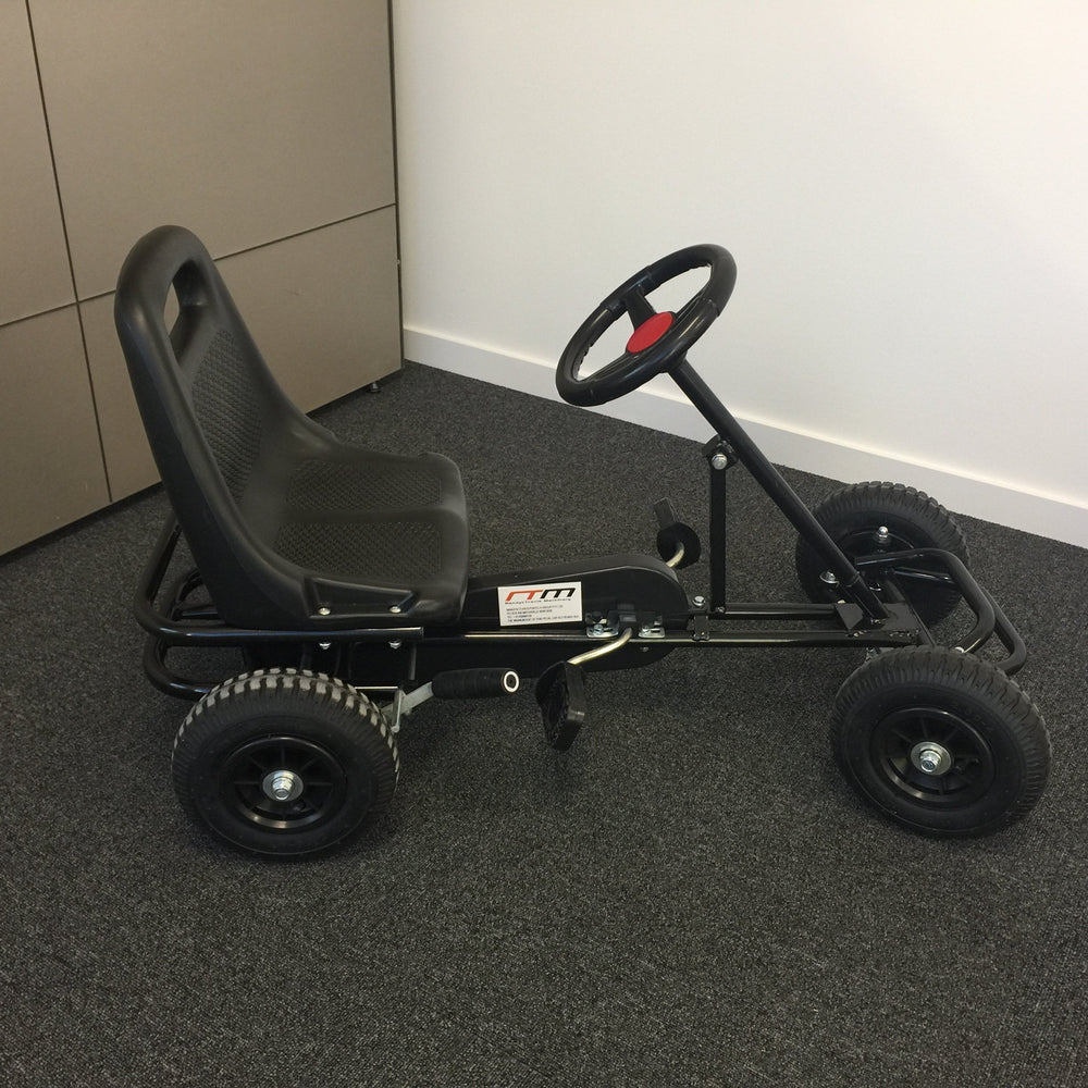 Kids Ride On Bariloche Outdoor Pedal Go Kart in Black (Ex Demo -Pickup Only) - Kids Car Sales