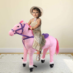 Kids Ride on Pedal Toy Pony with Wheels - Various Styles
