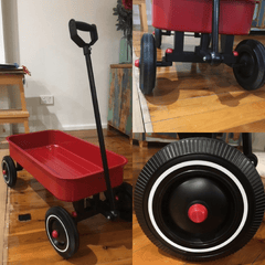 Kids Metal Pull Along Wagon