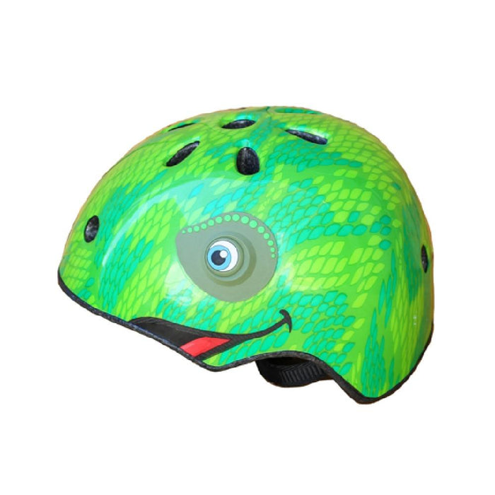 Kidzamo Green / Small Kidzamo Chameleon Helmet for Young Bikers KZ0113S
