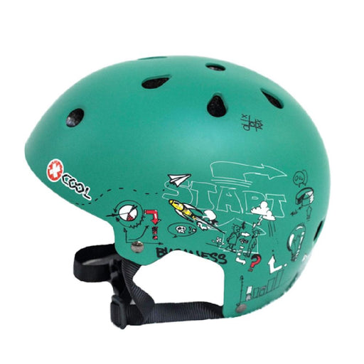 Kidzamo Green racing / Small Kidzamo XCOOL Graphic Printed Helmet for Young Bikers KZ0120S