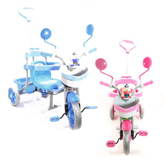 Kultoys Kids 3-Wheel Pink & White Tricycle with Basket - Kids Car Sales