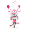 Image of Kultoys Kids 3-Wheel Pink & White Tricycle with Basket - Kids Car Sales