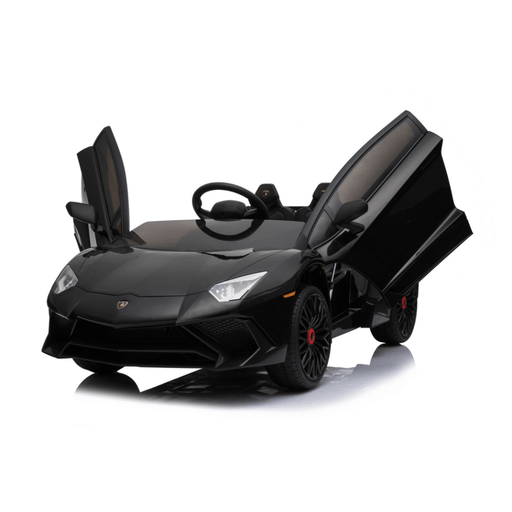 Lamborghini 12v Kids Ride-On Car w/ Upgraded Motor & Remote - Black - Kids Car Sales