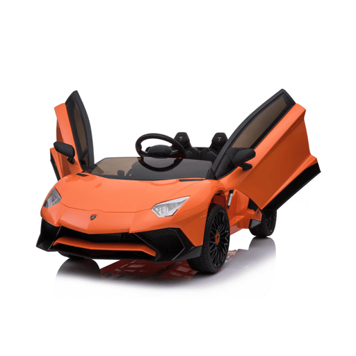 Lamborghini 12v Kids Ride-On Car w/ Upgraded Motor & Remote - Orange