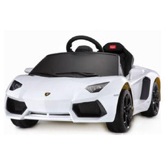 Lamborghini Inspired White 12v Ride-On Kids Car - Kids Car Sales