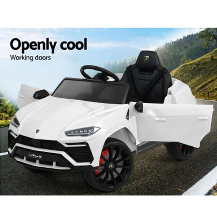 Unbranded Licensed Lamborghini URUS 12v Electric Ride-On Kids Car - White RCAR-LAMBO-URUS-WH