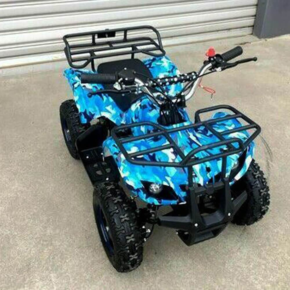 MJM MJM 49cc Petrol Powered 2-Stroke Farm Kids ATV Quad Bike - Blue MJM-49ATV-FA-BLU