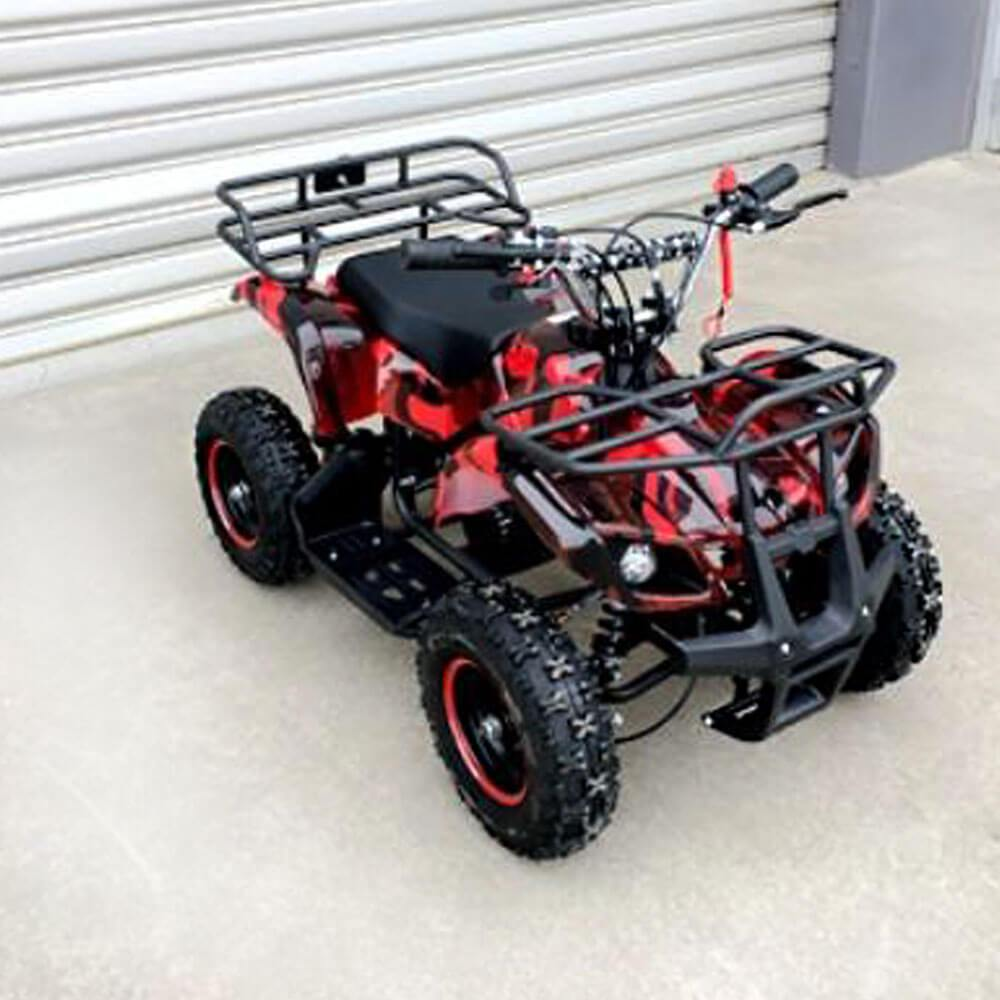 MJM Red MJM 49cc Petrol Powered 2-Stroke Farm Kids ATV Quad Bike MJM-49ATV-FA-RED