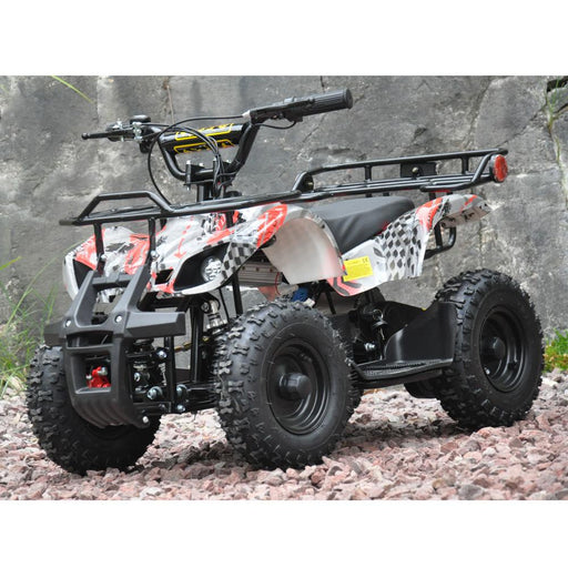 Motoworks Motoworks 500w 36v Electric Farm Brushless Kids Quad Bike - Red MOT-500EATV-FA-RED