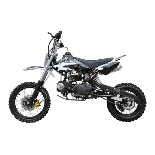 Motoworks Motoworks 125cc Petrol Powered 2-Stroke Kids Dirt Bike - Black MOT-125DB-BLA