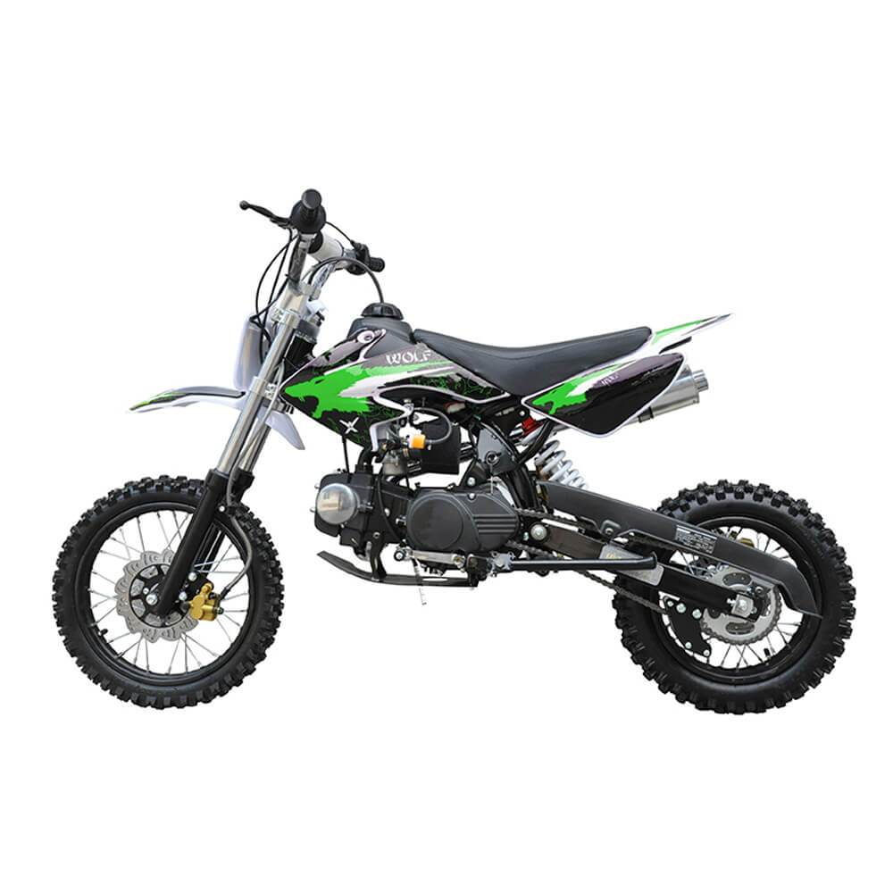 Motoworks Motoworks 125cc Petrol Powered 4-Stroke Kids Dirt Bike - Green MOT-125DB-GRE
