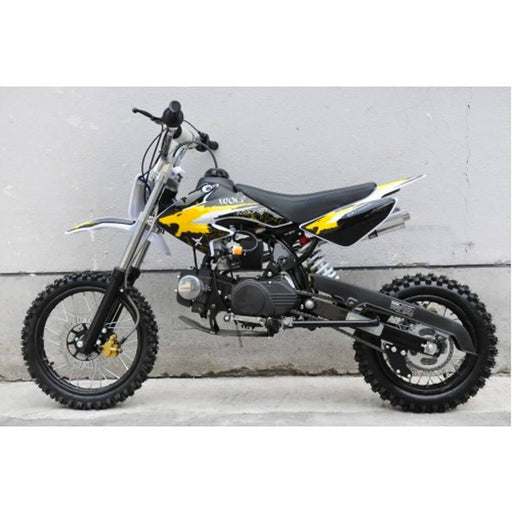 Motoworks Motoworks 125cc Petrol Powered 4-Stroke Kids Dirt Bike - Yellow MOT-125DB-YEL