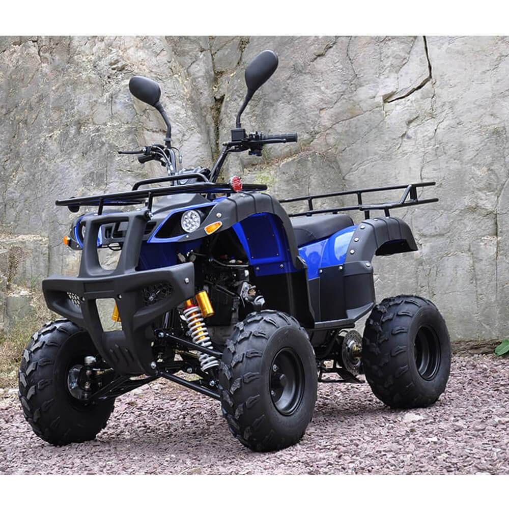 Motoworks 150cc Petrol Powered 4-Stroke Farm GY6 Quad Bike - Blue