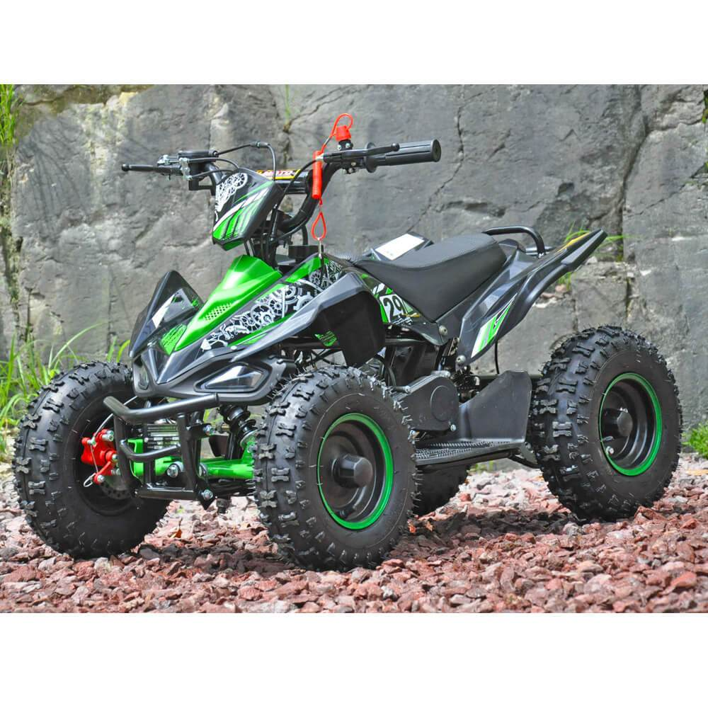 Motoworks Motoworks 49cc Petrol Powered 2-Stroke Sports Kids Quad Bike - Green MOT-49ATV-SP-GRE