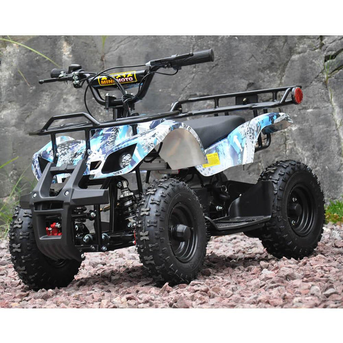 Motoworks 500w 36v Electric Farm Brushless Kids Quad Bike - Blue MOT-500EATV-FA-BLU