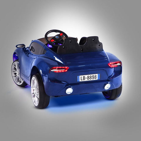 Maserati Inspired Blue 12v Ride-On Kids Car - Kids Car Sales