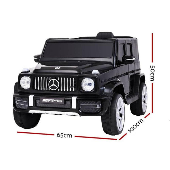 Unbranded Mercedes Benz AMG G63 Licensed Black 12v 60W Ride-On Kids Car RCAR-AMG63-12V-BK