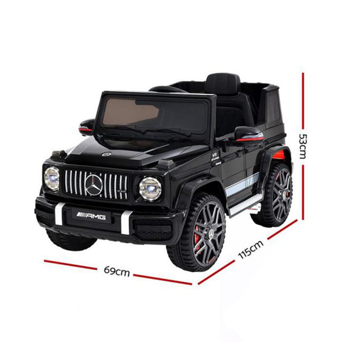 Mercedes Benz AMG G63 Licensed Black 12v Ride-On Kids Car - Kids Car Sales