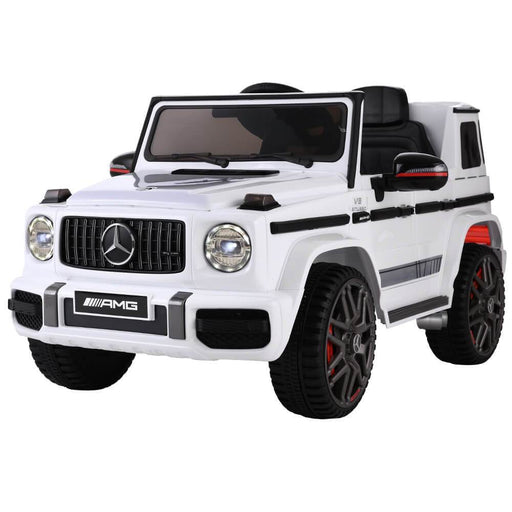 Unbranded Mercedes Benz AMG G63 Licensed White 12v Ride-On Kids Car RCAR-AMG63-WH