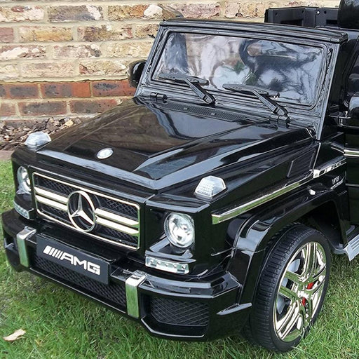 Mercedes Benz G65 Licensed Black 12v Ride-On Kids Car - Kids Car Sales
