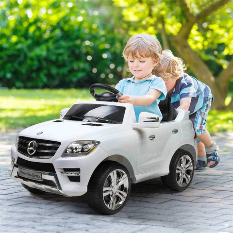 Mercedes Benz ML 350 Licensed Black 12v Ride-On Kids Car - Kids Car Sales
