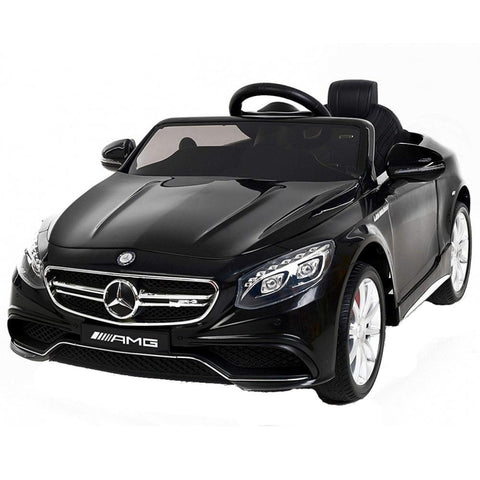 Mercedes Benz S63 Licensed Black 12v Ride-On Kids Car - Kids Car Sales