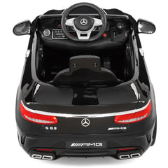 Mercedes Benz S63 Licensed Black 12v Ride-On Kids Car