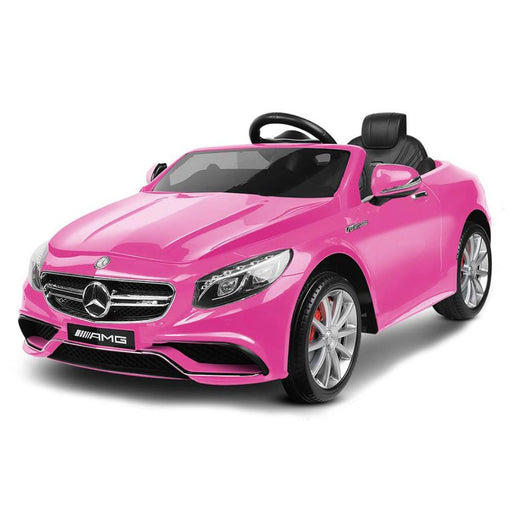Mercedes Benz S63 Licensed Pink 12v Ride-On Kids Car - Kids Car Sales